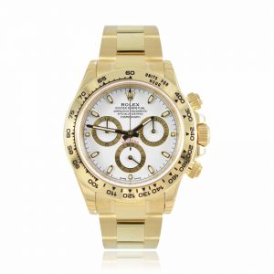 Rolex Cosmograph Daytona White and Gold Watch 116508