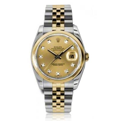 Rolex Datejust Champagne/Diamond Jubilee Watch 116203