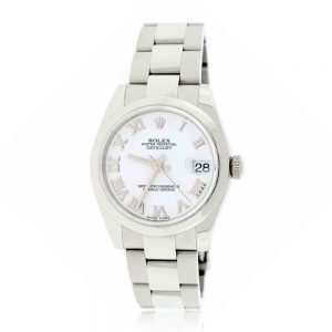 Rolex Lady Datejust 31mm White Roman Ladies Oyster Watch 178240