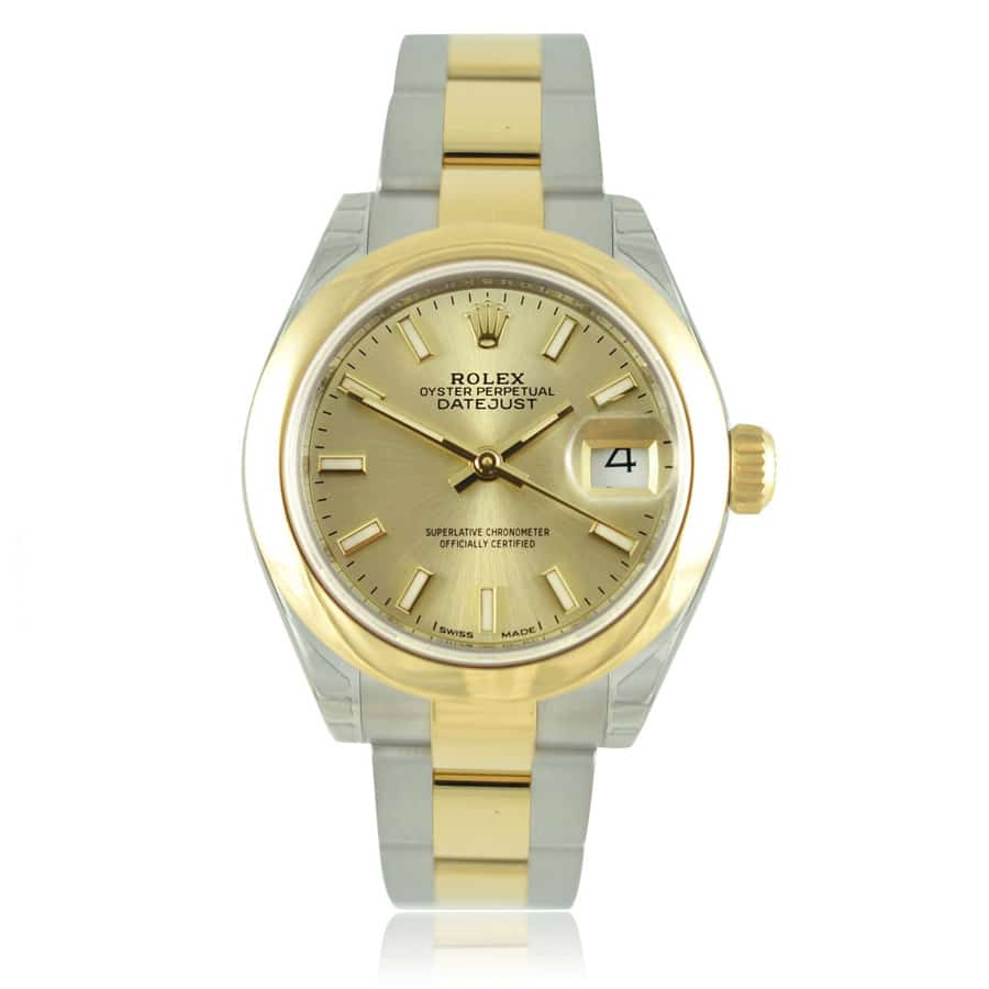 Rolex Lady Datejust 28 Steel And Yellow Gold Ladies Watch 279163