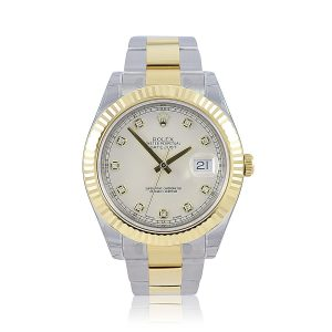 Rolex Datejust 41 Ivory and Diamond Oyster Watch 116333