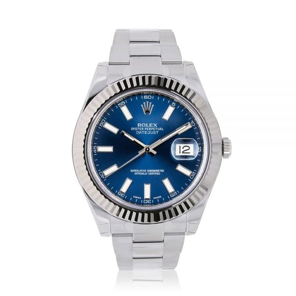 Rolex Datejust II Blue Oyster Watch 116334