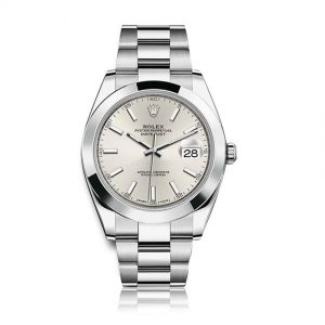 Rolex Datejust 41 Silver Oyster Watch 126300