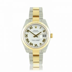 Rolex Lady Datejust White Roman Oyster Watch 178273