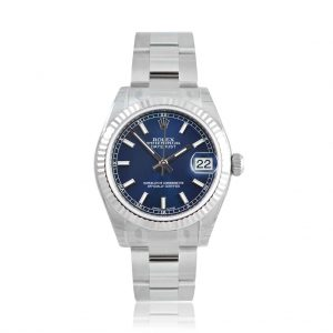 Rolex Lady Datejust Blue Oyster Watch 178274