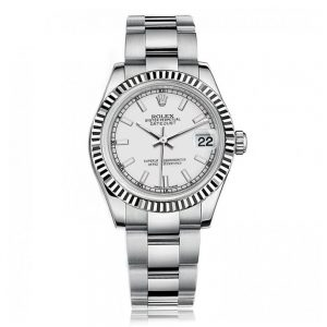 Rolex Lady Datejust Silver Oyster Watch 178274