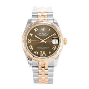 Rolex Lady Datejust 31mm Chocolate Roman Oyster Watch 178341