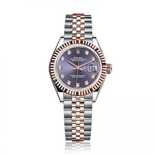 Rolex Lady Datejust 28 Aubergine and Diamond Gold Watch 279171
