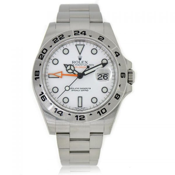 Rolex Explorer 11 Automatic Steel & Gold Silver Dial Mens Watch 216570