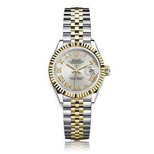 Rolex Lady Datejust 28 Steel&Gold Silver/ Roman Jubilee Watch 27917