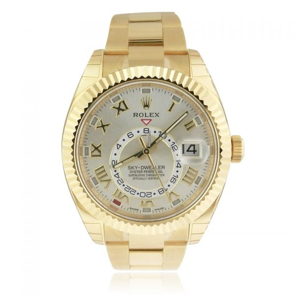 Rolex Sky-Dweller Silver and Gold Oyster Watch 326938