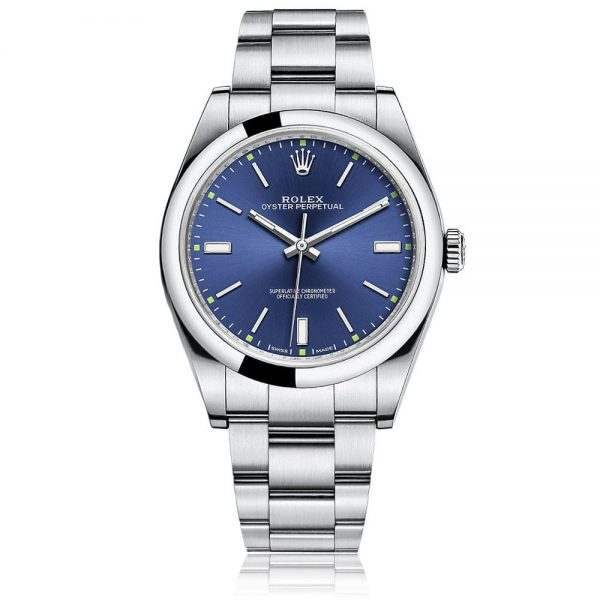 Rolex Oyster Perpetual 39 Blue/index Watch
