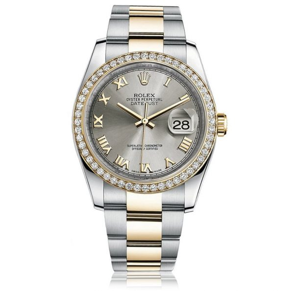 Rolex Datejust Steel Roman Jubilee Watch 116243