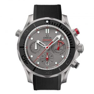 Omega Seamaster Chrono Diver ETNZ Titanium Men's Rubber Strap Watch