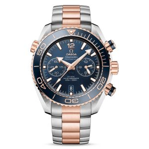 Omega Seamaster Master Planet Ocean Chronograph Steel & Gold Blue Dial Men's Watch