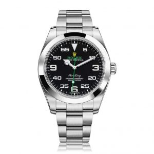 Rolex Air King Black Dial Stainless Steel Men's Watch