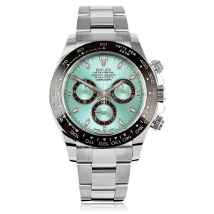 Rolex Daytona Cosmograph Platinum Case Ice Blue Dial Automatic Men's Bracelet Watch