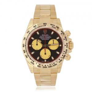 Rolex Daytona Cosmograph 18ct Yellow Gold & Black Dial Chronograph Watch