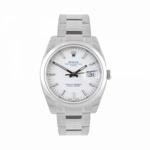 Rolex Date White Oyster Watch 115200