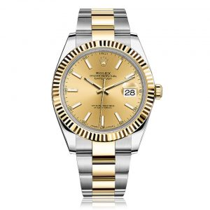 Rolex Datejust 41 Steel and Yellow Gold with Champagne Dial Watch 126333