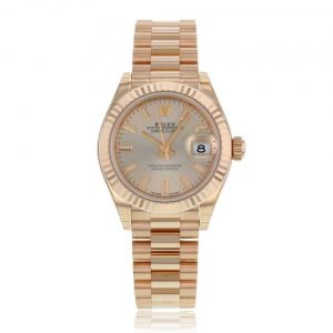 Rolex Lady Datejust 18ct Rose Gold White Ladies Jubilee Bracelet Watch