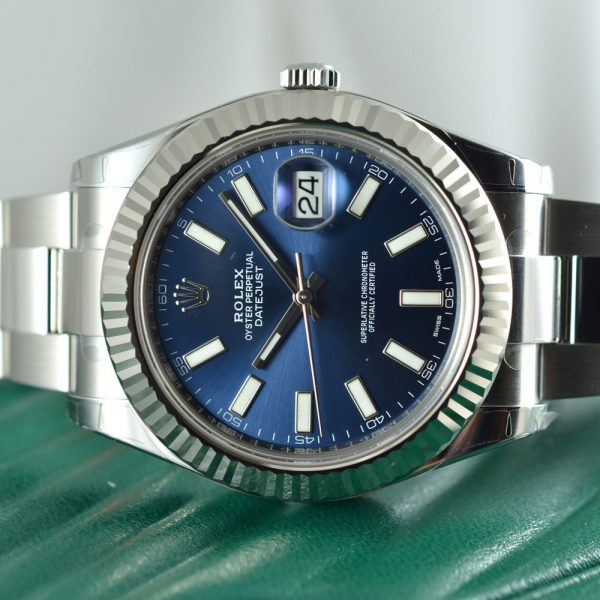 Rolex Datejust II Blue Oyster Watch 116335