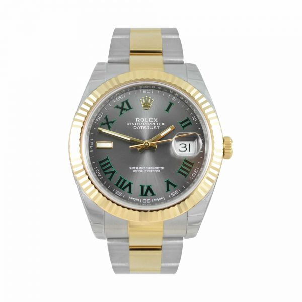 Rolex Datejust 41 Slate Dial, Steel and Yellow Gold Oyster Watch 126333