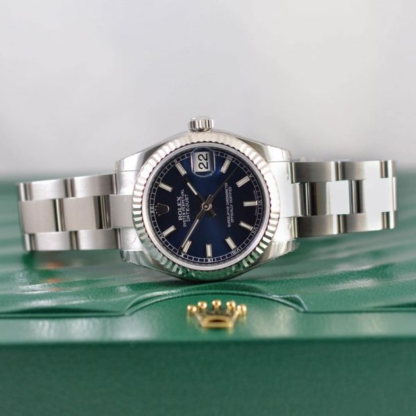 Rolex Lady Datejust Blue Oyster Watch 178275