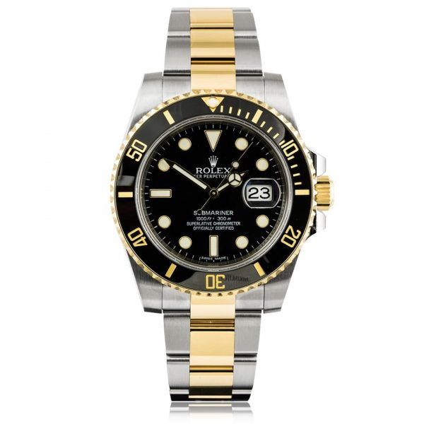 Rolex Submariner Date Steel & 18ct Yellow Gold Black Dial Watch