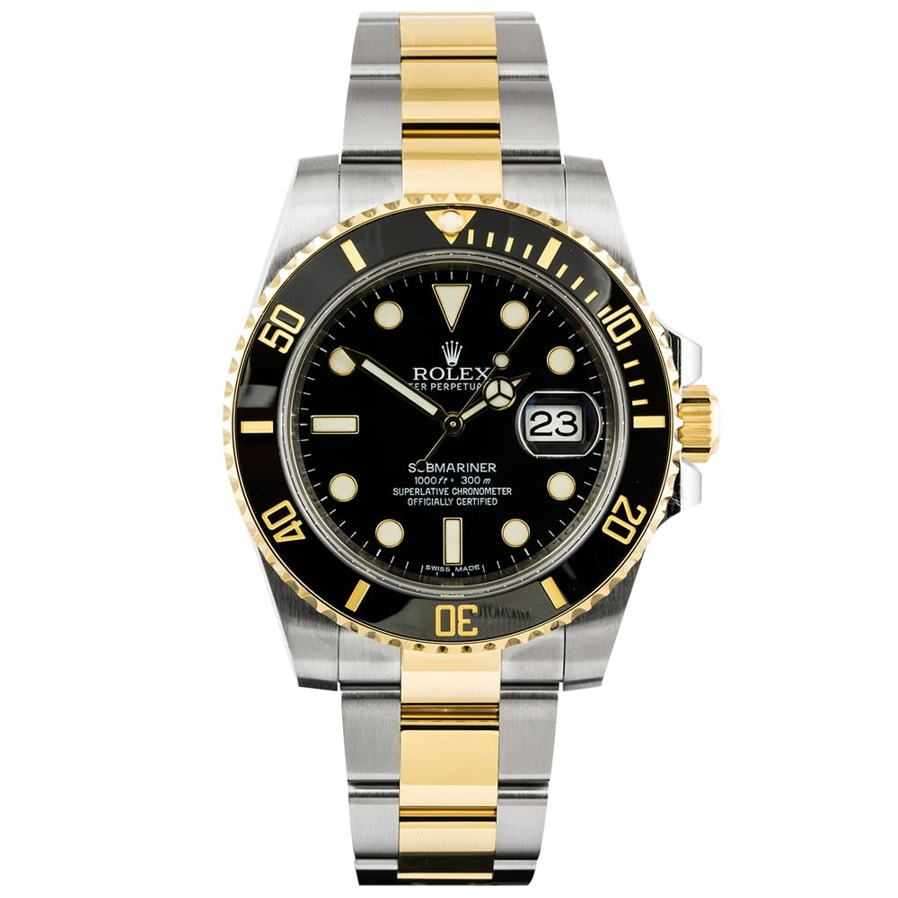 Rolex Submariner Date Steel & 18ct Yellow Gold Black Dial ...