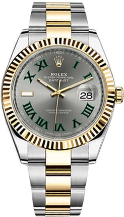 Rolex Datejust 41Mm Steel And Yellow Gold 126333 Slate Roman Oyster
